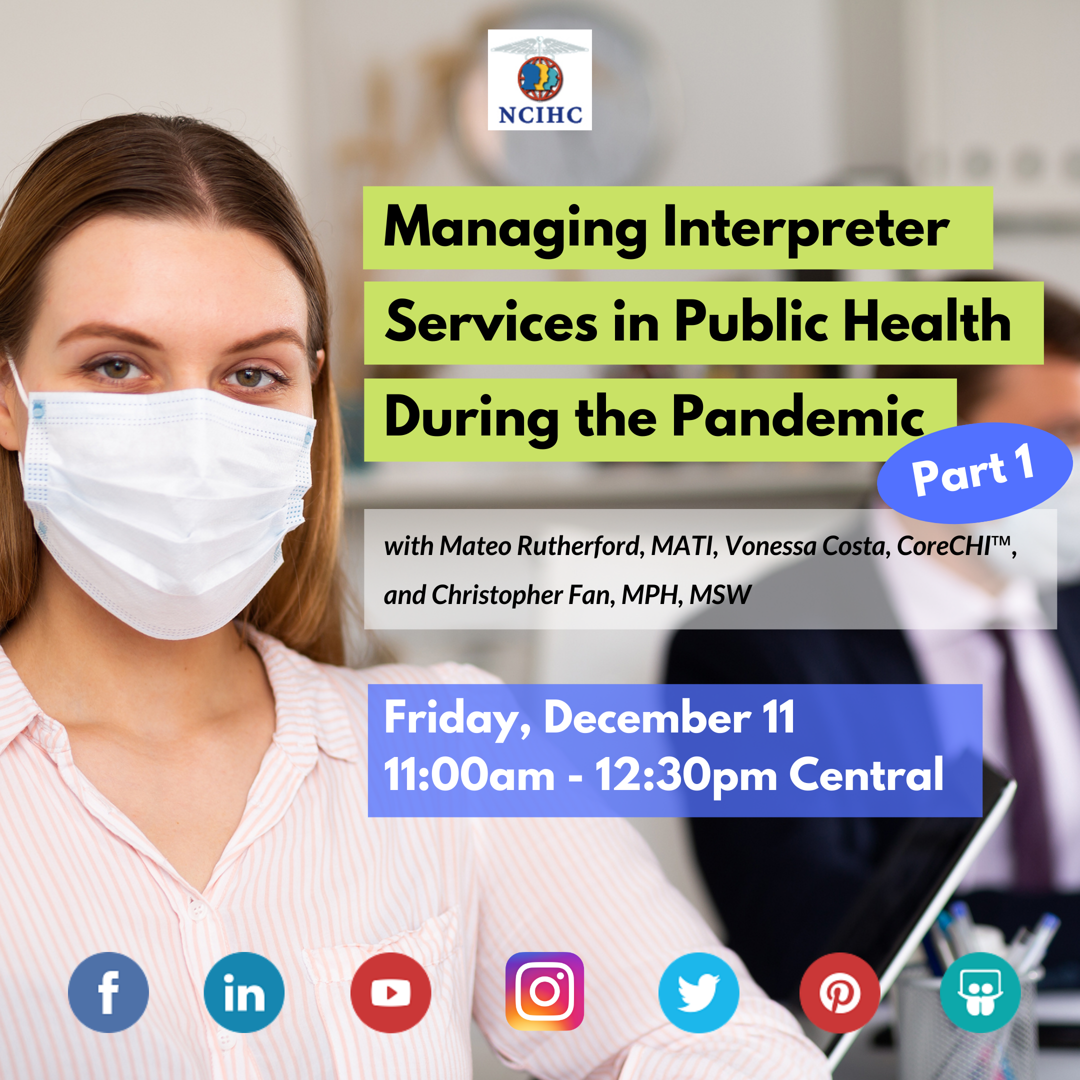 Webinar Panel Managing Interpreter Services in Public Health during Pandemic Part 1